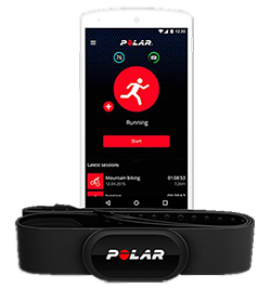 Polar Brustgurt H10 Herzfrequenz-Sensor per Bluetooth auf Handy